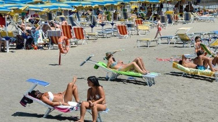 Une plage sur le littoral romain (AFP)