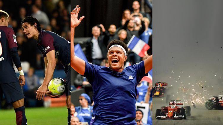 Neymar et Cavani en grande discussion, Tsonga envoie la France en finale, le crash au départ du GP de Singapour