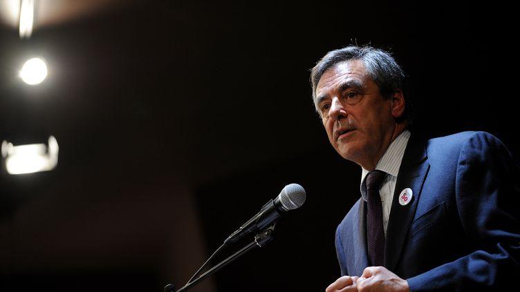 François Fillon en meeting à Millancay (Pays de Loire)le 8 octobre 2015. (GUILLAUME SOUVANT / AFP)