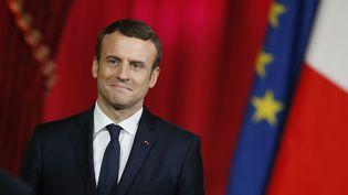 Emmanuel Macron lors d'une cérémonie à l'Elysée, le 14 mai 2017. (FRANCOIS MORI / AFP)