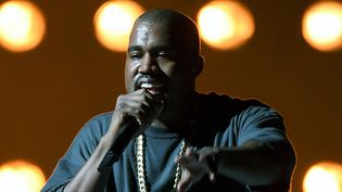 Kanye West sur scène à Las Vegas le 18 septembre 2015  (Ethan Miller / Getty Images / AFP)