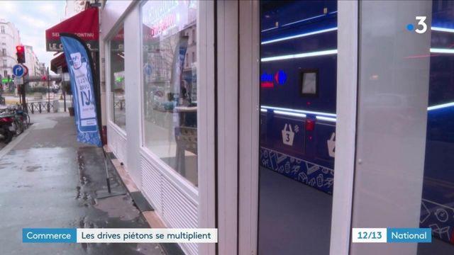 Commerce : les grandes enseignes de distribution misent sur les drive piétons