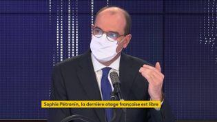 Le Premier ministre Jean Castex, sur franceinfo le 12 octobre 2020. (FRANCEINFO / RADIOFRANCE)