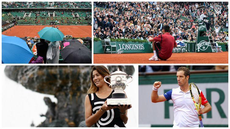 Roland-Garros aura été marqué par la pluie, les sacres de Novak Djokovic et Garbine Muguruza et le bon parcours de Richard Gasquet