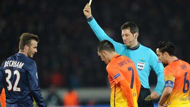 L'arbitre allemand Wolfgang Stark lors du match PSG - Barcelone