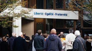 Le collège du Bois d'Aulne, à Conflans-Sainte-Honorine (Yvelines), le 17 octobre 2020. (MARIE MAGNIN / HANS LUCAS / AFP)