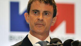Le Premier ministre français, Manuel Valls, lors d'un sommet économique franco-colombien à Bogota (Colombie), jeudi 25 juin 2015. (GUILLERMO LEGARIA / AFP)