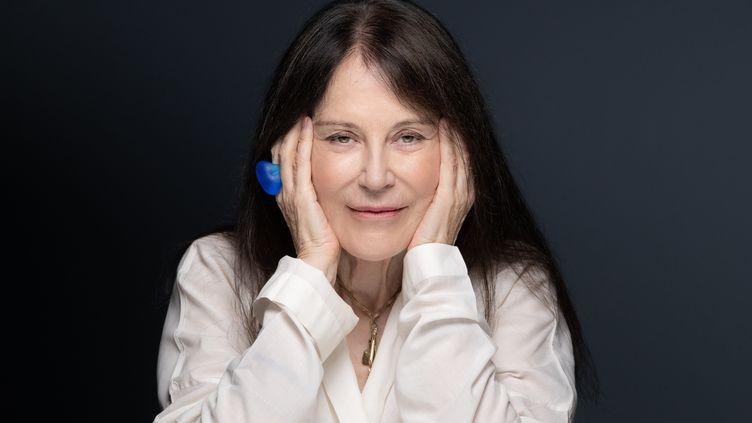 L'écrivaine Irène Frain à Paris, le 22 septembre 2020 (JOEL SAGET / AFP)