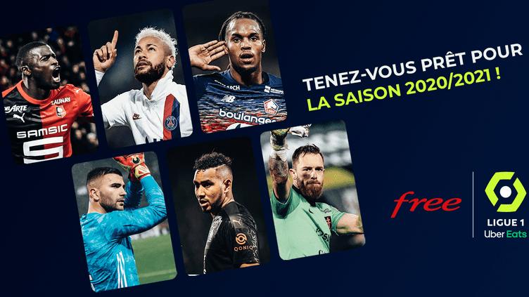 """L'affiche de promotion de l'application """"Free Ligue 1"""""""