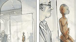 """""""Une Maternité rouge"""", la nouvelle Bande dessinée de Christian Lax raconte l'histoire d'un jeune migrant. Une conte à mi-chemin enytre la fiction et la réalité.  (capture d'écran, Futuropolis)"""