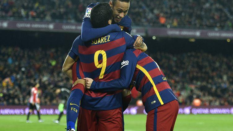 l'efficacité du trio Suarez, Neymar et Messi est très attendu du côté du Barça en Ligue des Champions (LLUIS GENE / AFP)