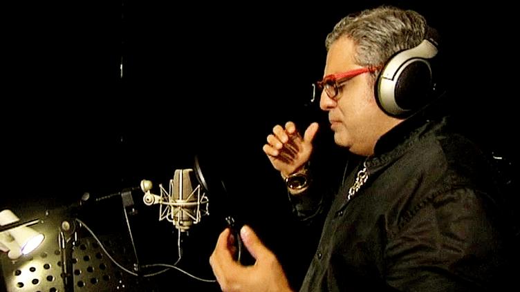 Leonardo Tajabadi au studio d'enregistrement à Strasbourg  (France 3 / capture d'écran)