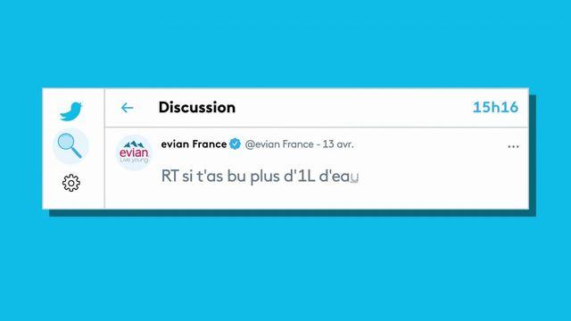 Evian:polémique autour d'un tweet posté le premier jour du ramadan