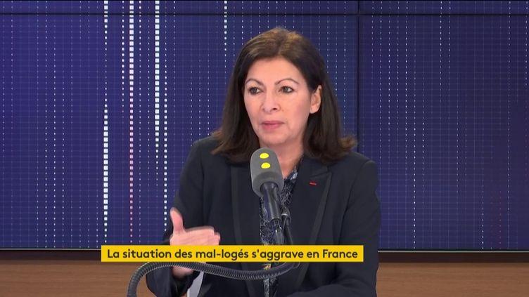 Anne Hidalgo, sur franceinfo, jeudi 30 janvier 2020. (FRANCEINFO / RADIOFRANCE)