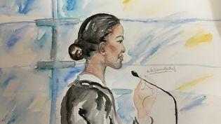 Fabienne Kabou, lors de l'ouverture de son procès devant la cour d'assises du Pas-de-Calais, à Saint-Omer, le 20 juin 2016. (ELISABETH DE POURQUERY / FRANCETV INFO)