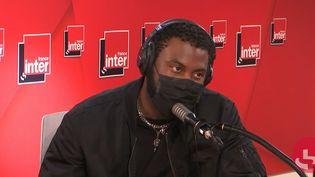 Le rappeur Damso sur France Inter le 28 avril 2021. (FRANCEINTER / RADIOFRANCE)