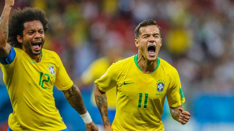 Philippe Coutinho et Marcelo  (WILLIAM VOLCOV / BRAZIL PHOTO PRESS)