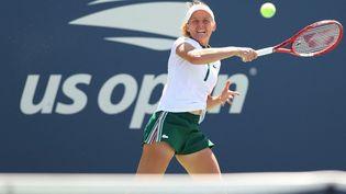 Fiona Ferro est éliminée au deuxième tour de l'US Open 2021. (ELSA / GETTY IMAGES NORTH AMERICA)