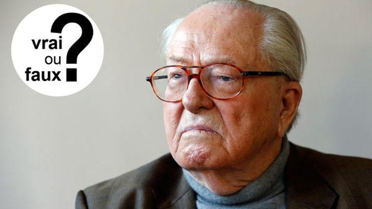 (Jean-Marie Le Pen dit-il vrai sur les peines de prison ferme non exécutées ? © Maxppp)