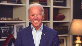 Joe Biden, en campagne depuis le sous-sol de sa maison de Wilmington dans le Delaware. (CBS PHOTO ARCHIVE / CBS)