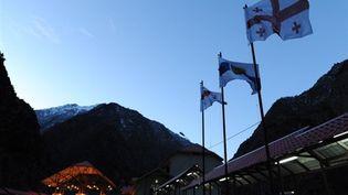 Le poste frontière de Darial Gorge ou Verkhni Lars, le 01/03/2010 (AFP/Vano Shlamov)