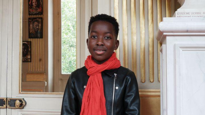 """Wayeen, un des quatorze finalistes, quelques heures avant defaire sa lecture finale, un extrait de """"Adieu Tante Aimée"""" d'Agnès Mathieu-Daudé. (Marine Ritchie)"""