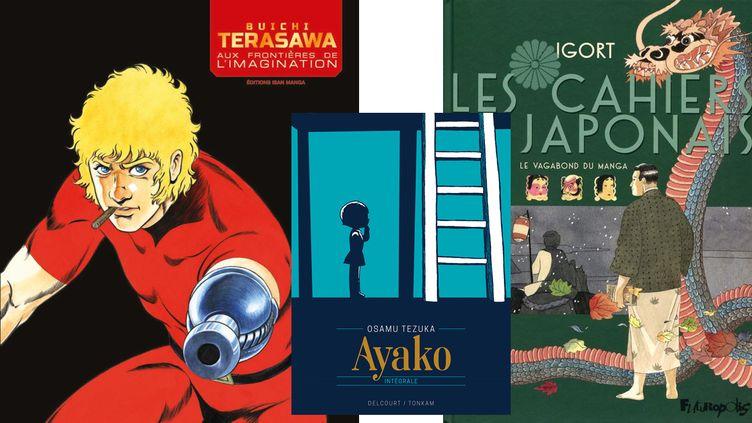 TERASAWA PREND MODELE SUR BEBEL, IGORT REND HOMMAGE AUX IMAGES JAPONAISES (BUICHI TERASAWA, ISAN MANGA / OSAMU TEZUKA, TONKAM-DELCOURT / IGORT, FUTUROPOLIS)