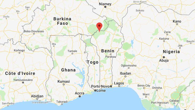Les deux Français se sont rendus dans le parcde la Pendjari au nord du Bénin. (GOOGLE MAPS)