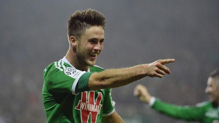 Ricky Wolfswinkel, l'attaquant de l'AS Saint-Etienne. (JEFF PACHOUD / AFP)