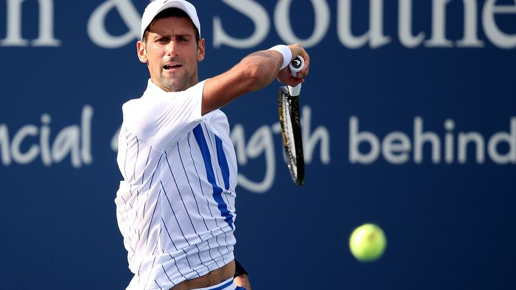 Novak Djokovic s'est débarrassé de Tennys Sandgren en deux sets (MATTHEW STOCKMAN / GETTY IMAGES NORTH AMERICA)