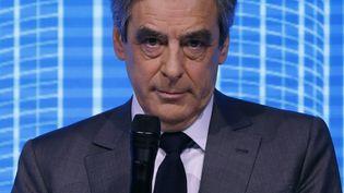 François Fillon, candidat Les Républicains à l'élection présidentielle, lors d'un forum sur l'investissement, le 23 février 2017 à Paris. (PATRICK KOVARIK / AFP)