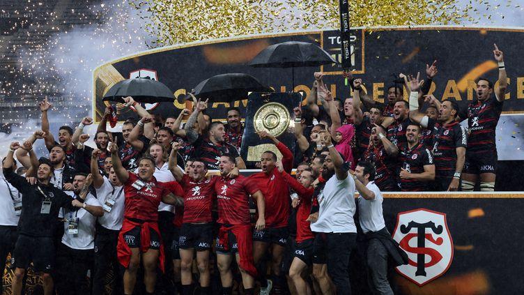 Toulouse a remporté son 21e titre en carrière face à la Rochelle. (THOMAS COEX / AFP)