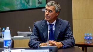 L'ancien ministre du Budget Jérôme Cahuzac, le 23 juillet 2013, lors de sa seconde audition par la commission d'enquête parlementaire, à Paris. (MAXPPP)