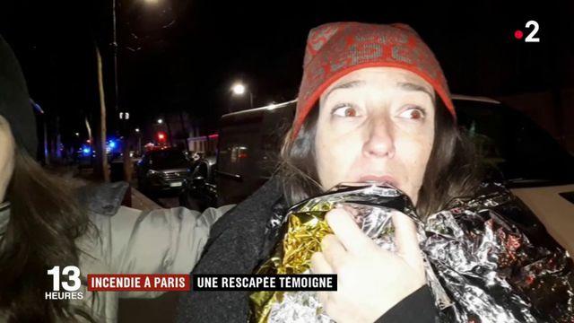 Incendie à Paris : une rescapée témoigne