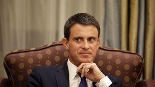 Manuel Valls, à Ryad (Arabie saoudite), le 13 octobre 2015. (KENZO TRIBOUILLARD / AFP)