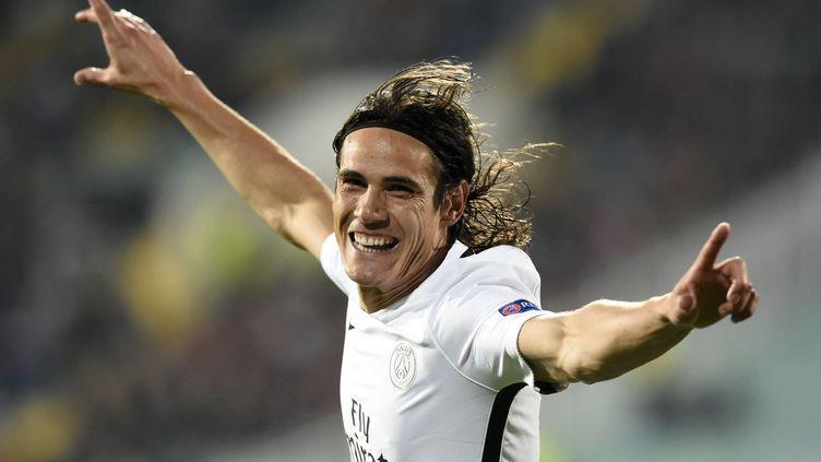 L'attaquant et buteur uruguayen du PSG, Edinson Cavani (DIMITAR DILKOFF / AFP)