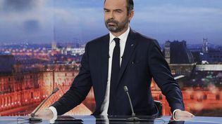 Édouard Philippe, lors de son interview sur France 2 le dimanche 18 novembre 2018. (GEOFFROY VAN DER HASSELT / AFP)