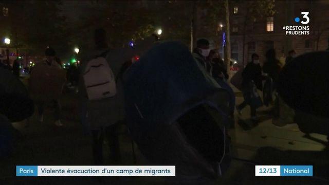 Migrants : évacuation violente à Paris
