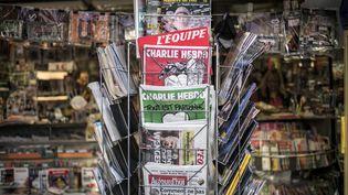 Un kiosque à journaux, le 25 février 2015, à Lyon (Rhône). (JEFF PACHOUD / AFP)