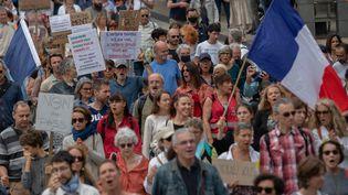 Manifestation contre le pass sanitaire à Nantes (Loire-Atlantique), le 18 septembre 2021. (ESTELLE RUIZ / HANS LUCAS / AFP)