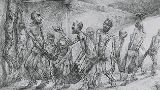 L'horreur de la guerre en Syrie - Gravure Najah Albukai  (France 3 / Culturebox )