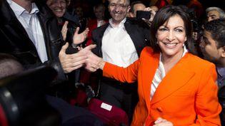 Anne Hidalgo, candidate socialiste à la mairie de Paris, le 28 mai 2013 lors du lancement de sa campagne, à Paris. (JOEL SAGET / AFP)