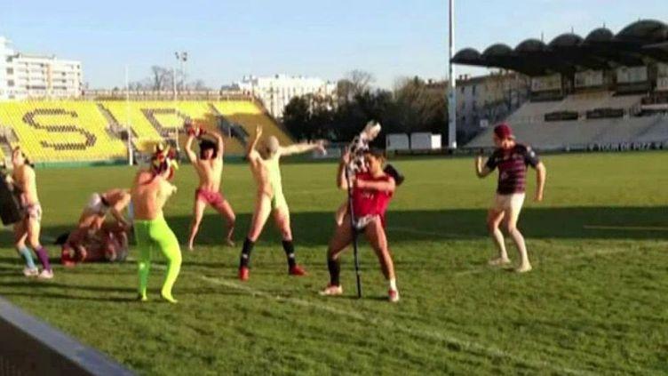 Harlem shake sur le stade de rugby de Poitiers  (France3/culturebox)