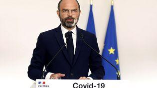 Le Premier ministre Edouard Philippe, le 19avril 2020, à Matignon (Paris).  (THIBAULT CAMUS / AFP)