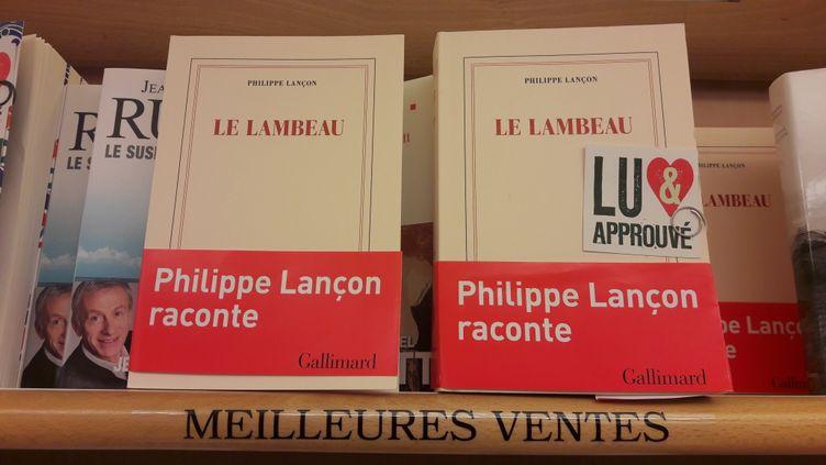 """""""Le Lambeau"""", de Philippe Lançon, est sortien avril 2018aux éditions Gallimard. (FRANCEINFO)"""