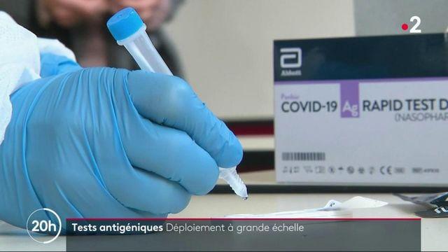 Coronavirus : les tests antigéniques vont être déployés à grande échelle