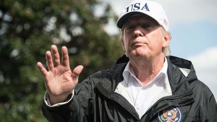 Le président américain, Donald Trump, donne une conférence de presse à la Maison Blanche à Washington (Etats-Unis), le 14 septembre 2017. (NICHOLAS KAMM / AFP)