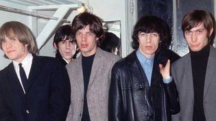 Les Rolling Stones en juin 1964. De gauche à droite : Brian Jones, Keith Richards, Mick Jagger, Bill Wyman et Charlie Watts.  (Richard Rosser / REX/ SIPA)