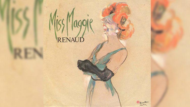 """La pochette - elle aussi très violente - de """"Miss Maggie"""" de Renaud. (DR)"""