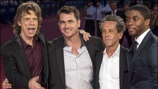 De gauche à droite Mick Jagger, Tate Taylor, Brian Gazer et Chadwick Boseman  (Jean-François Lixon)
